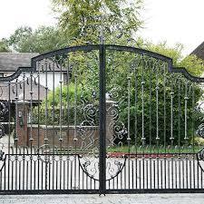 Vintage Metal Art Wrought Iron Driveway Gates Design For Sale Iok 189 You Fine Sculpture
