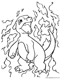 Charmander Pokemon Characters Coloring Pages