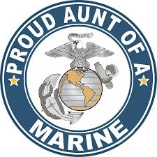 Proud Aunt Of A Marine U S Marine Corps Round Decal
