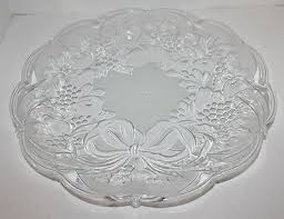 malaysia clear glass serving platter