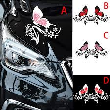 A Pair Lovely Beautiful Butterfly Auto Decals Motorcycle Car Decal Car Styling Sticker Scratch Cover Waterproof Car Stickers Car Stickers Aliexpress