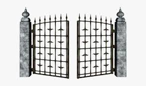 Gothic Gate Png Creepy Fence Clipart Png Image Transparent Png Free Download On Seekpng