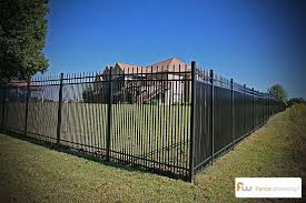 Metal Fence For Large And Small Dogs Backyard Fences Fence Landscaping Rustic Fence
