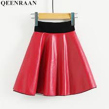 girls pu leather skirt 2018 autumn kids