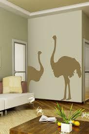 Wall Decal Ostrich Duo Walltat Com Art Without Boundaries