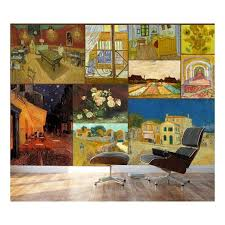 Wall26 Peel And Stick Wallpapaer Famous Paintings Collage By Vincent Van Gogh Removable Large Wall Mural Creative Wall Decal 66x96 Inches Walmart Com Walmart Com