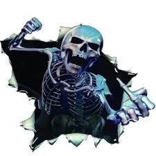Vova New Hoods Trunk Reflective 3d Skull Decal Car Sticker Rear Window