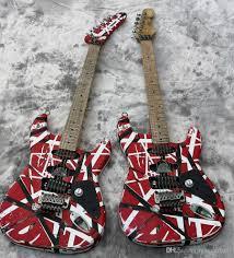 Satın Al Yüksek Kalite Elektro Gitar Eddie Van Halen En Iyi Kalite  Gitarlar, Yaşlı Kalıntı St, Kaliteli Donanım Yükseltilmiş, Hızlı Sevk,  TL4,260.2