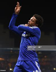 Chelsea's Loic Remy celebrates scoring their third goal of the ...