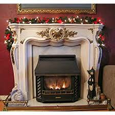 pre lit garland for fireplace