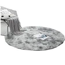 1694207633 Fluffy Round Rug Carpets For Living Room Decor Faux Fur Rugs Kids Room Long Plush Rugs For Bedroom Shaggy Area Rug Modern Mats Home Garden Home Textile