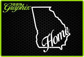 Oracal Georgia Home Vinyl Decal Car Truck Window Sticker Peaches Bulldogs Farm Usa