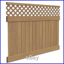 Lightweight Cypress Carlsbad 6 Ft H X 8 Ft W Vinyl Lattice Top Fence Panel Kit Fence Kit New