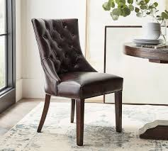 hayes tufted leather dining chair
