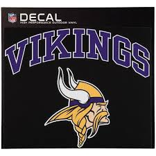 Minnesota Vikings 12 X 12 Arched Logo Decal In 2020 Minnesota Vikings Vikings Minnesota