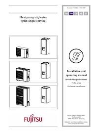 heat pump air water split single