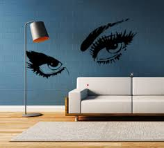 Gazing Eyes Wall Decal Looking Eyes Eyelashes Women S Etsy