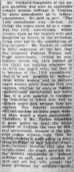 Adele Clark black vs female vote #4 - Newspapers.com