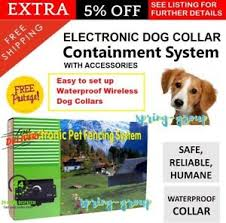 Electronic Dog Fence Containment Fencing Boundary System Wireless Safety Collar Ebay