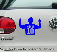 Messi Fc Barcelona Vinyl Decal Sticker For Cars Windows Laptops And More 3 99 Picclick