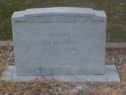 Willie Ada Nelson Mathews (1862-1941) - Find A Grave Memorial