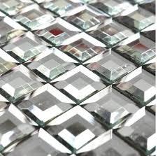 30 mm diamond mirror glass mosaic tiles