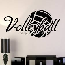 Simple Design Vinyl Wall Decals Home Decoration Living Room Bedroom Art Volleyball Ball Sport Stickers Murals Unique Gift Yy558 Vinyl Wall Decals Sticker Muraldecoration Living Room Aliexpress
