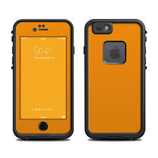 Skin For Lifeproof Fre Iphone 6 6s Solid Orange Sticker Decal Ebay