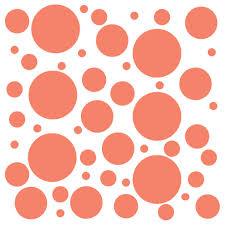 Set Of 100 Polka Dot Circles Vinyl Wall Decals Stickers Assorted Siz