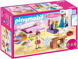 Amazon Com Playmobil Bedroom With Sewing Corner Furniture Pack Toys Games