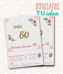 Tarjeta Cumple 60 Invitacion Cumple 60 Para Imprimir Tarjeta