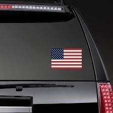 American Flag Bumper Sticker Vinyl Weatherproof