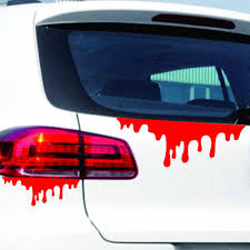 Happy Halloween Car Wall Home Blood Sticker Mural Decor Decal Removable Terror Car Styling Accessories Styling Moulding Aliexpress