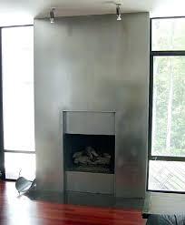 metal fireplace mantel