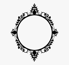 circle frame mirror frame black and