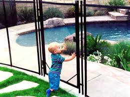 Removable Mesh Pool Fence Child And Pet Safe Guardian Pool Fence