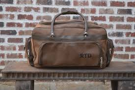personalized mens leather bag groomsman