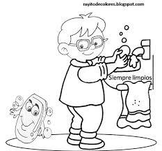 el pupitre aseo personal az dibujos
