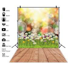 خلفيات الربيع للتصوير الفوتوغرافي العشب الأخضر الزهور Floret مشمس
