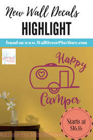 Happy Camper Wall Art Stickers Vinyl Lettering Decals For Rv Accessories Vinyl Lettering Sticker Wall Art Vinyl Sticker