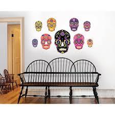 Bungalow Rose Skulls Large Wall Decal Reviews Wayfair
