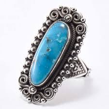 Ivan Howard Kingman Turquoise Ring - Four Winds Gallery