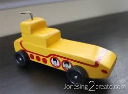 Yellow Submarine Pinewood Derby Car Jonesing2create