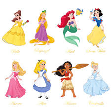 Decalmile Princess Wall Stickers Girls W Buy Online In El Salvador At Desertcart