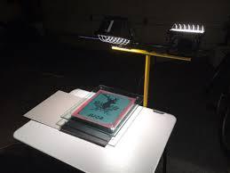 screenprint with 500 watt light bulb