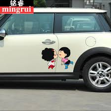 C Luo Car Sticker Creative Obstruction Scratches Car Stickers Dog Shark Mickey Cartoon Door Cute Couple Stickers