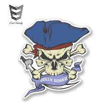 Earlfamily 13cm X 12cm Jolly Roger Skull Car Styling Window Reflective Decals Auto Covers Moto Decor Waterproof Car Stickers Car Stickers Aliexpress