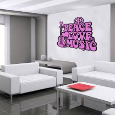 Peace Love Music Wall Decal 2 Color Decal The Walls