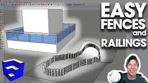 Easy Fences And Rails In Sketchup With Instant Fence And Railing From Vali Architects Youtube