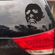 Amazon Com Flywalld Michael Myers Halloween Halloween Horror Sticker White Car Window Vinyl Art Decal Home Kitchen
